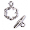 Toggle Fancy Flower 13mm Nickel